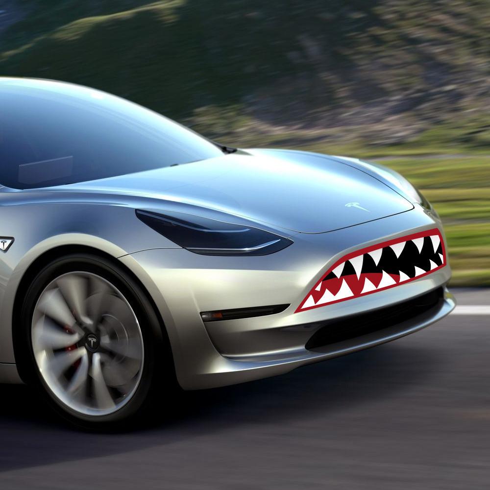 Tesla Model 3 with Flying Tiger applique