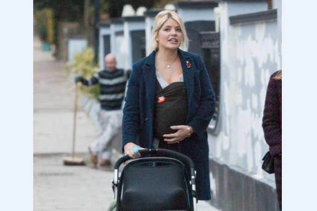 Holly Willoughby and baby son Chester