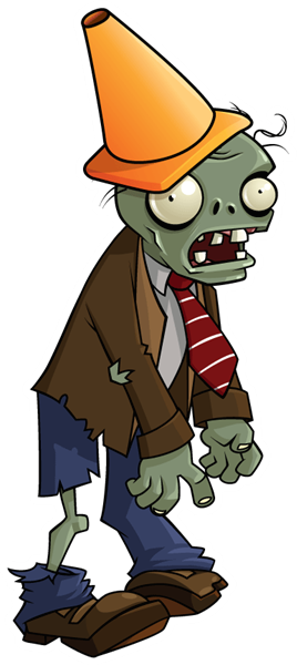 conehead zombie the conehead zombie takes 2x the damage of Plants Vs Zombies Zombie Head Png