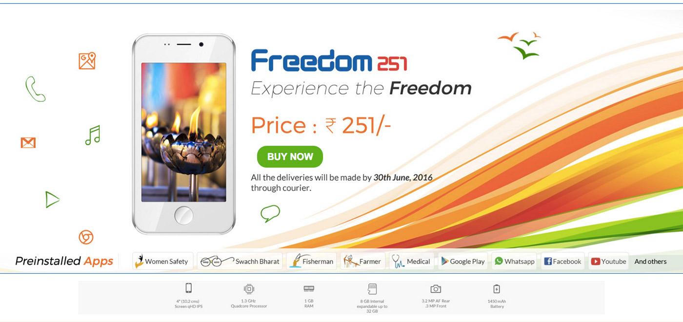 Freedom 251 es un teléfono que solo cuesta 3 míseros euros