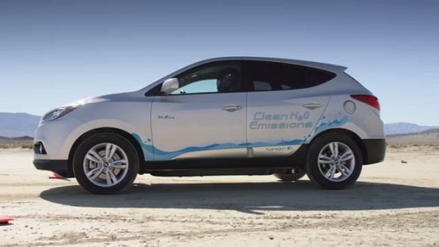 【ビデオ】ヒュンダイの燃料電池車「ツーソン」、市販水素燃料SUVの最速記録を樹立