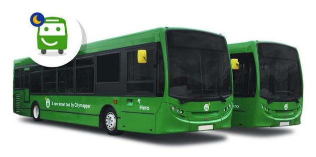 ナビゲーション・アプリのCitymapperが自前のバスを運行 スマホで空席確認も
