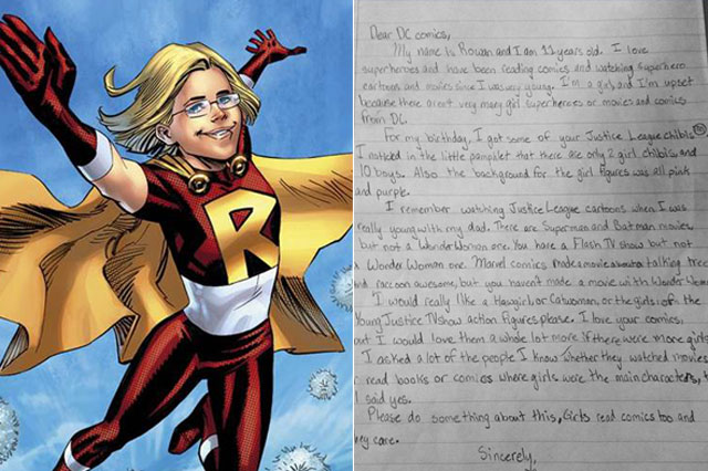 Girl, 11, complains about lack of female superheroes. DC Comics' response is amazing