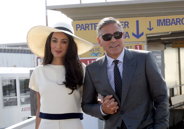 Amal Clooney not pregnant: George Clooney's wife denies she's expecting first child