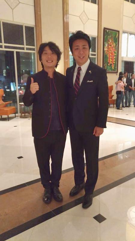 筆者、福岡市長の高島氏と