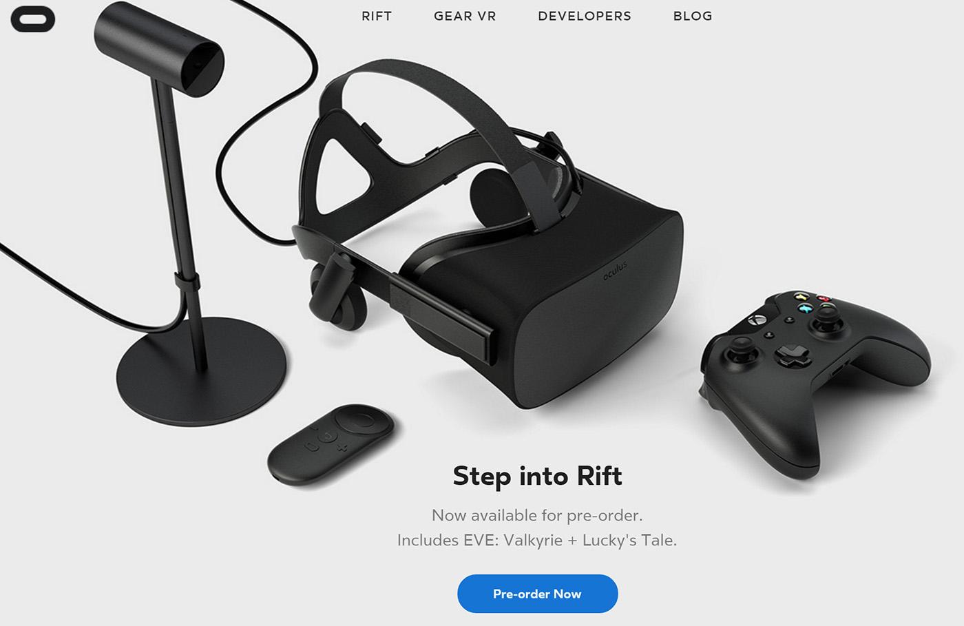 Oculus Rift package