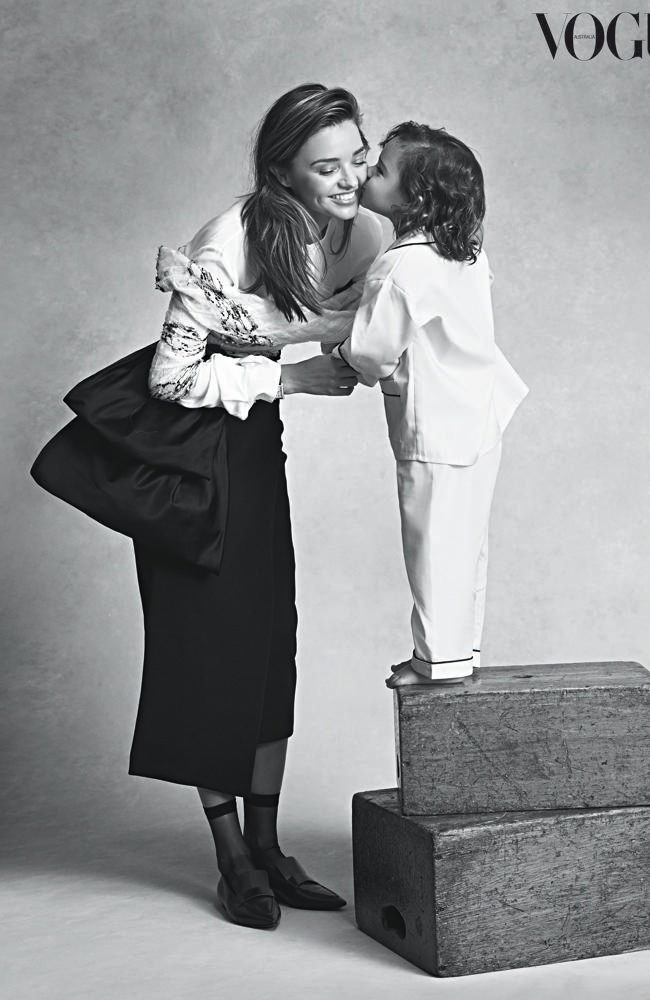 Miranda Kerr and Flynn in Vogue