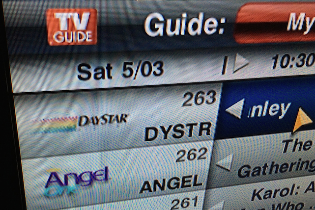 Dish Network guide screen showing Daystar Digital logo