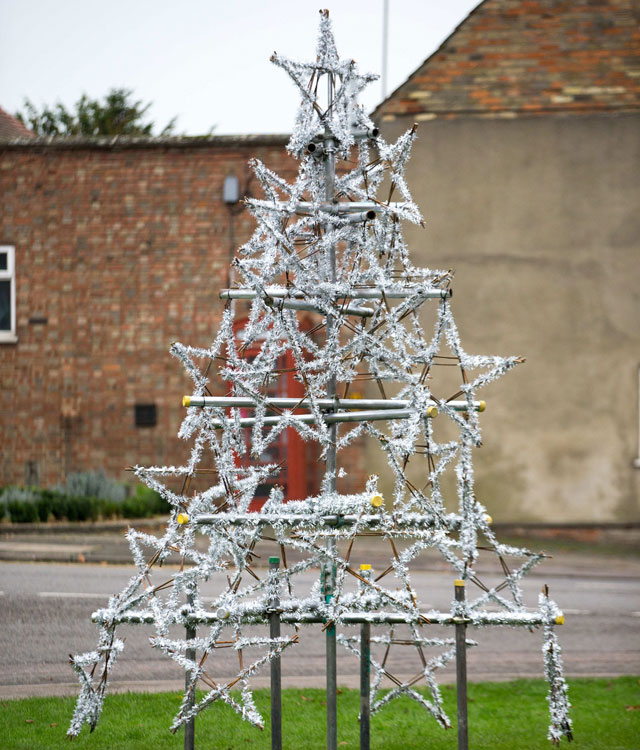 Is this the least festive Christmas tree ever?