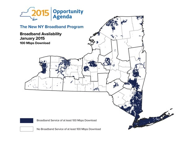 New York governor wants statewide 100Mbps internet by 2019