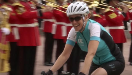 Countess of Wessex completes 450-mile bike ride