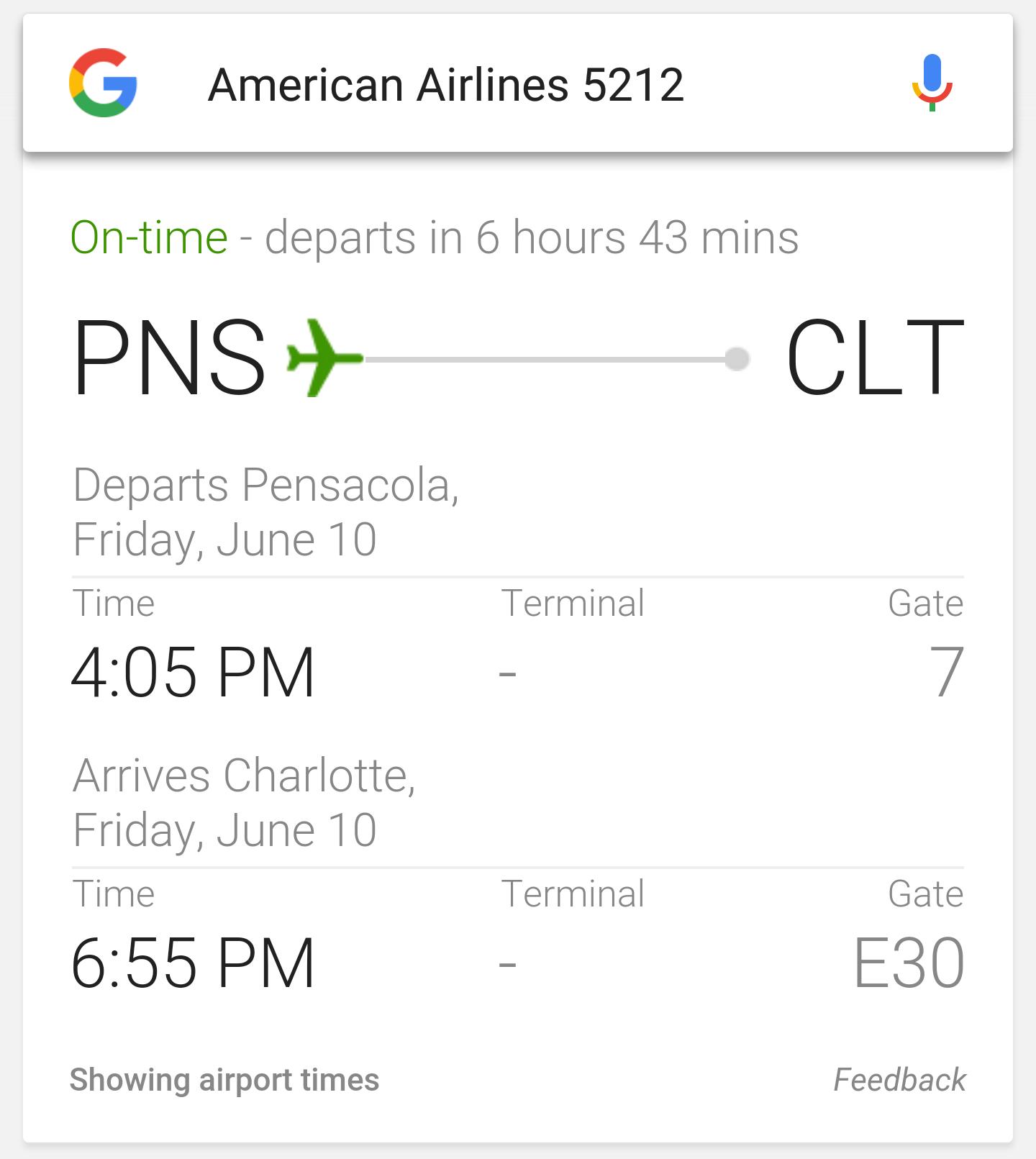 dirty joke flight itinerary pensacola charlotte