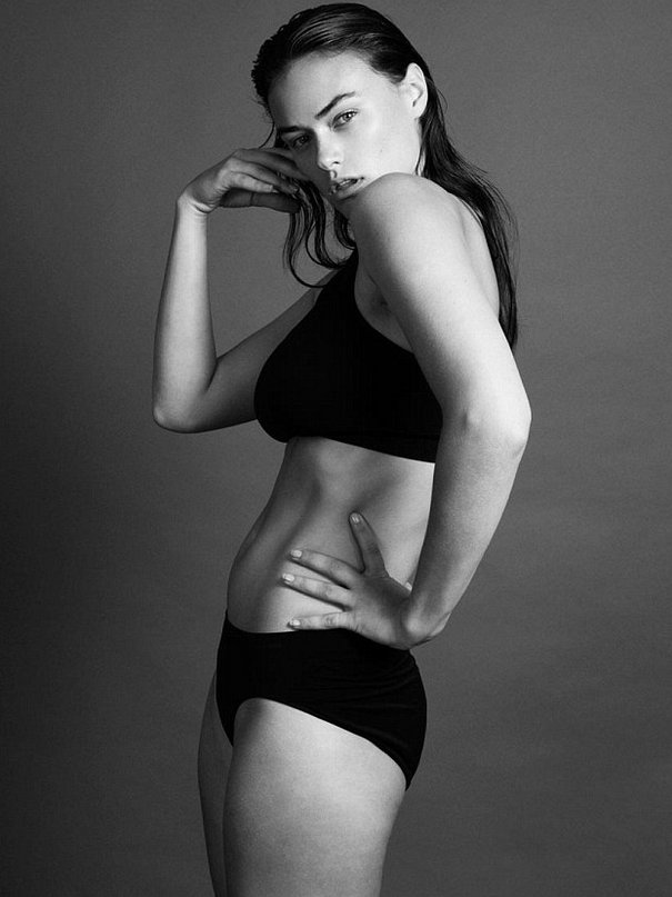 Calvin Klein advertisement 'plus size' model