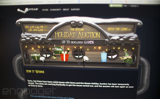 Steam auction on hold after users find exploit, pilfer online currency