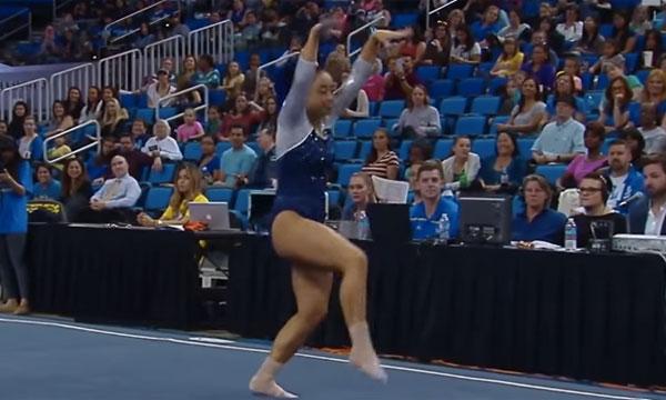 観客も大興奮!アメリカの女子体操選手のルーティーンがノリノリすぎてハンパないwww【動画】