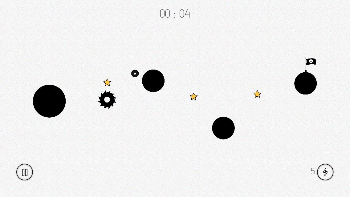 Players guide a ball through a hazard-filled maze of circular platforms in ROTO