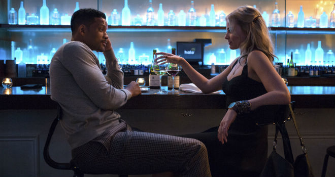 Will Smith and Margot Robbie in
