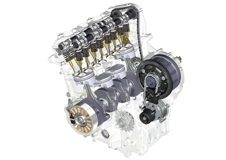 BMW S 1000 RR, Motor mit ÖlpumpeBMW S 1000 RR, engine with oil pump