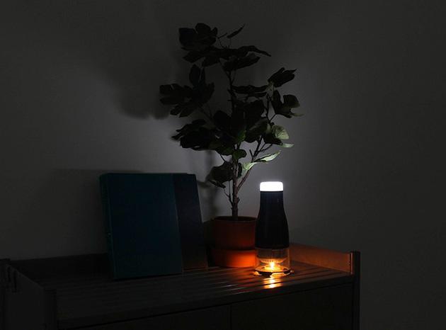 Lumir C: LED-Leuchte mit Kerzenantrieb (macht tatsächlich Sinn)