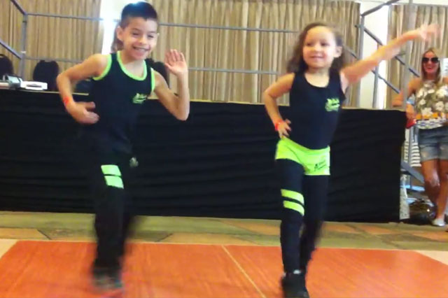 Tiny dancers aged six and eight show off incredibly fast footwork (Video)