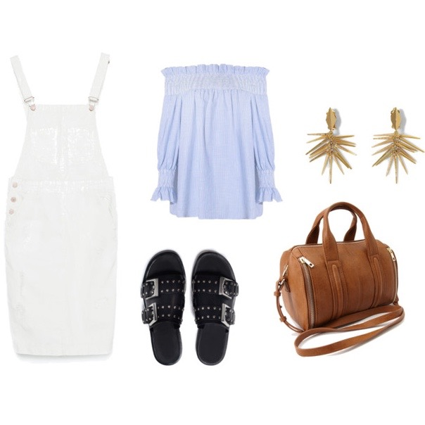 How to wear an overall dress white