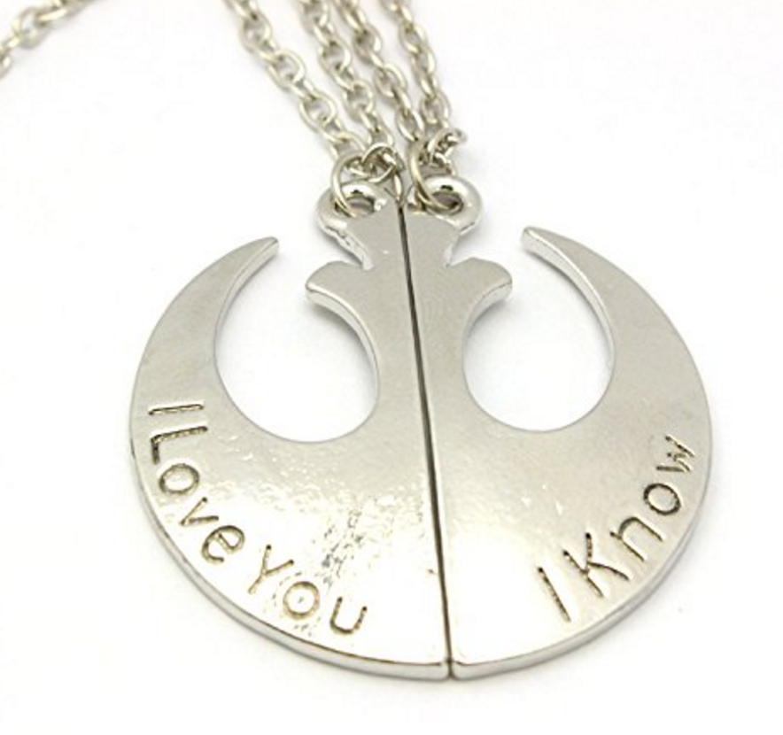 Star Wars I Love You Necklace