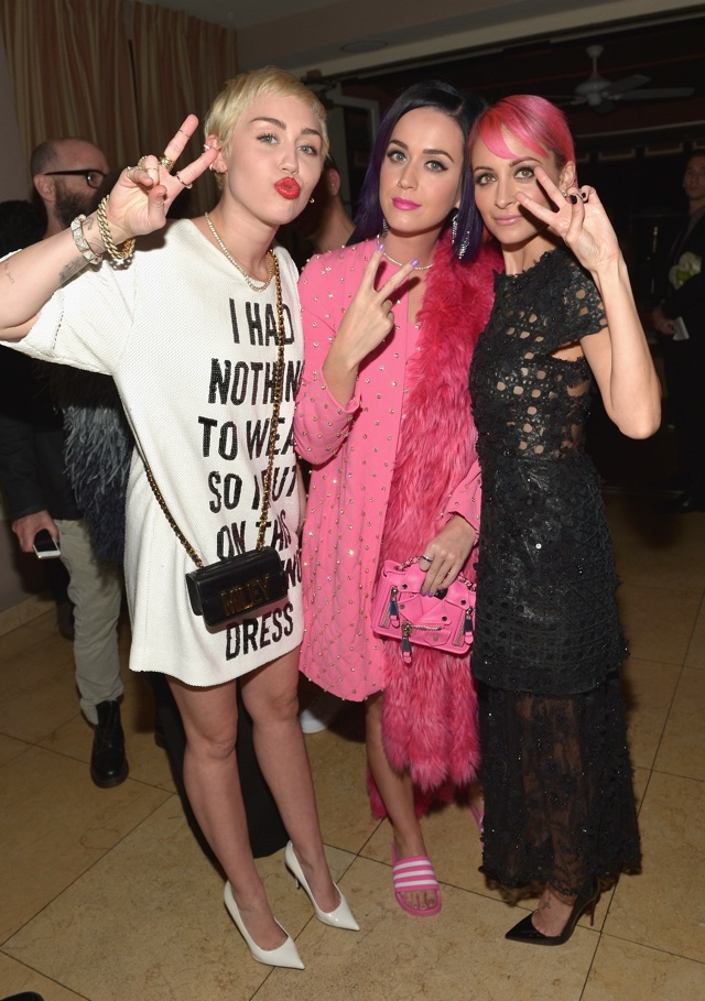 Katy Perry and Nicole Richie colour-match crazy looks at fashion bash