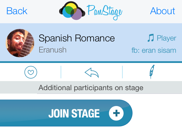 PanStage Music Join Stage Screen