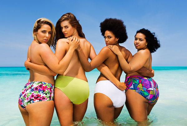 これぞ「ありのまま」の姿 ちょっぴり大きめモデルたちが、有名グラビア誌の表紙を再現