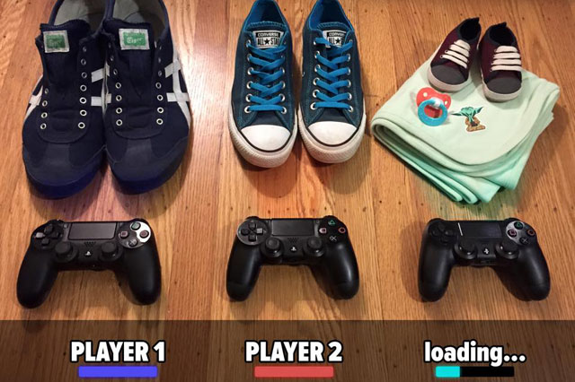 The ultimate gamer pregnancy announcement