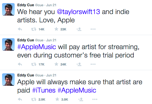 Eddy Cue Twitter Taylor Swift