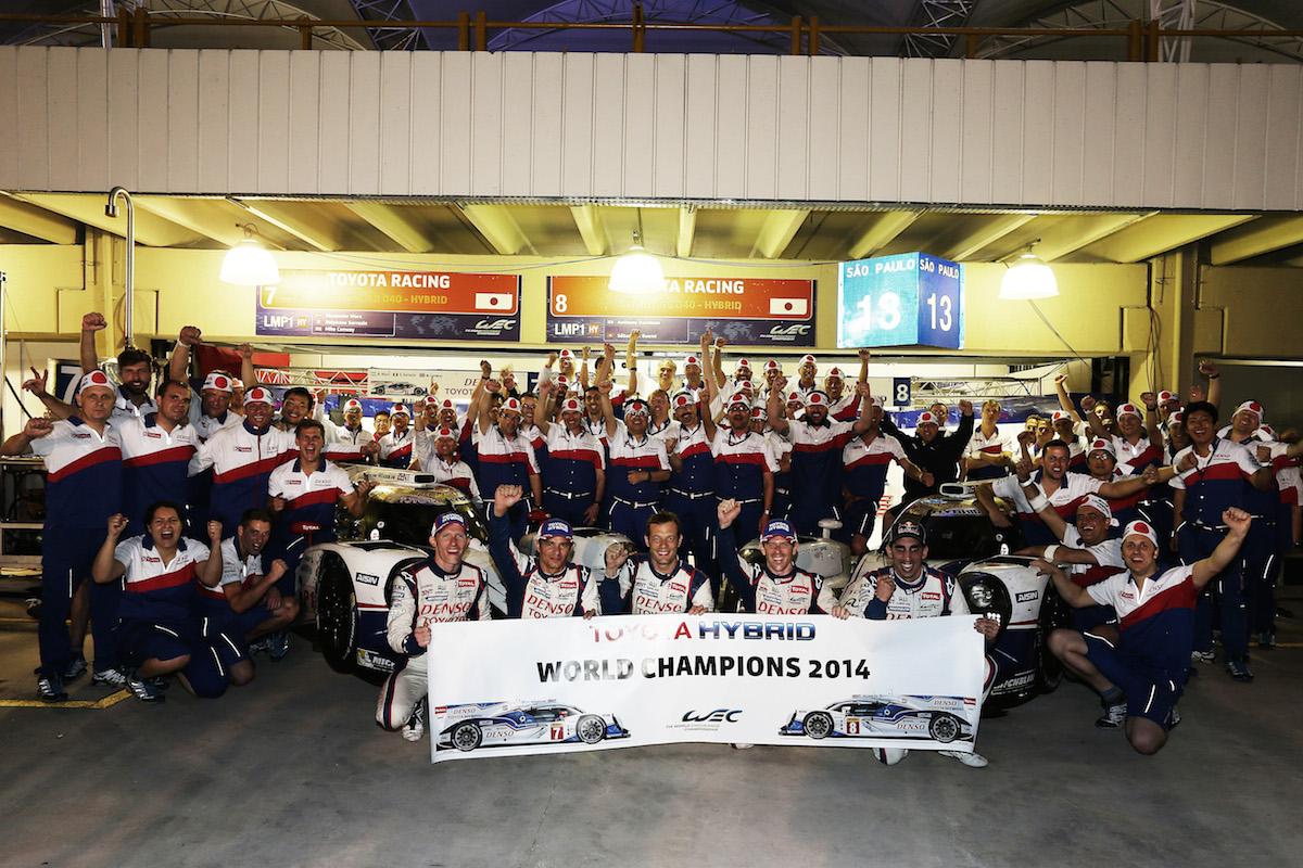 2014 WEC Champions. Toyota Hybrid RacingWorld Endurance Championship. 6 Hours of Brazil. 27th-30th November 2014. Sao Paulo, Brazil.