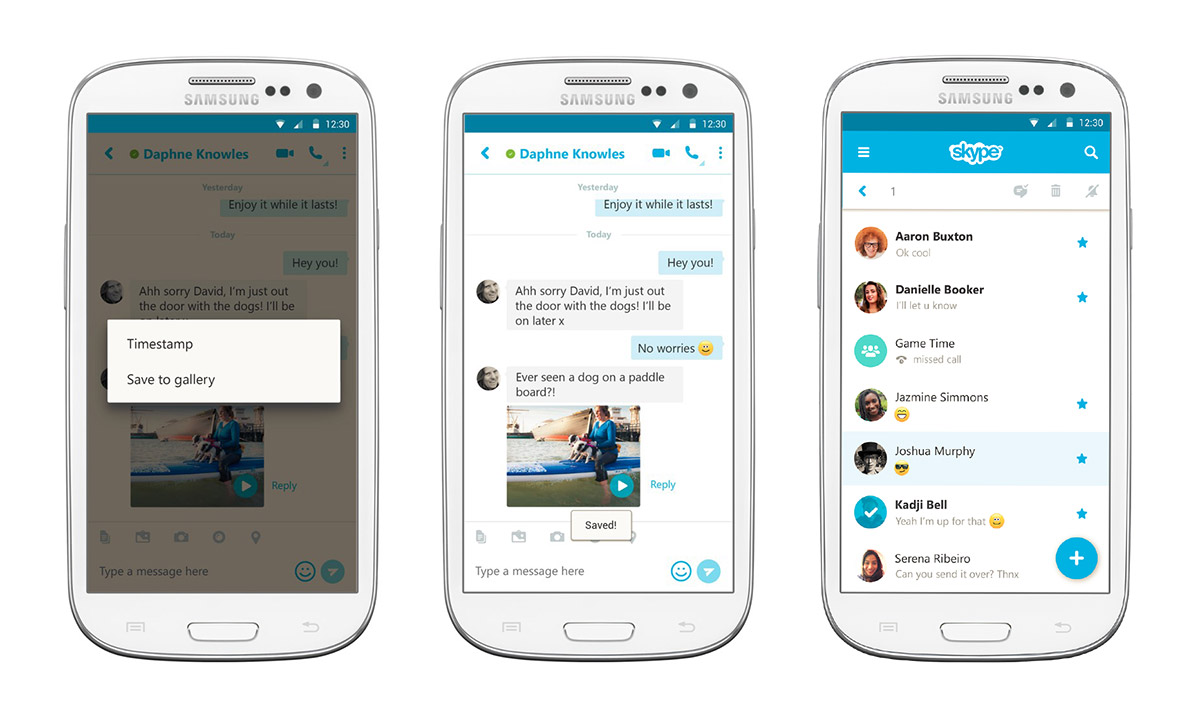 Skype updates Android app so you can save video messages