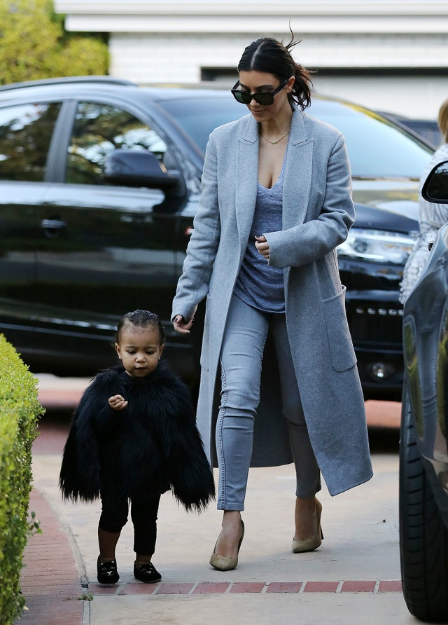 Kim Kardashian's daughter North West is a serious fashionista in fur cape