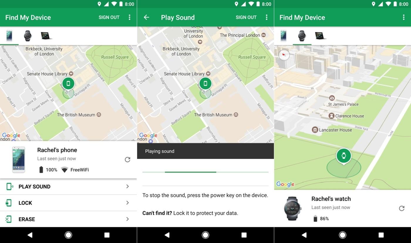 El administrador de dispositivos de Android cambia su nombre por uno más obvio