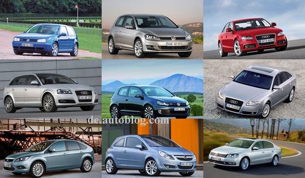 Die meistverkauften Gebrauchtwagen in Deutschland 2014