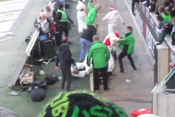 ブンデスリーガの試合にサポーター乱入&暴行騒ぎに ネットに一部始終が流出【閲覧注意】