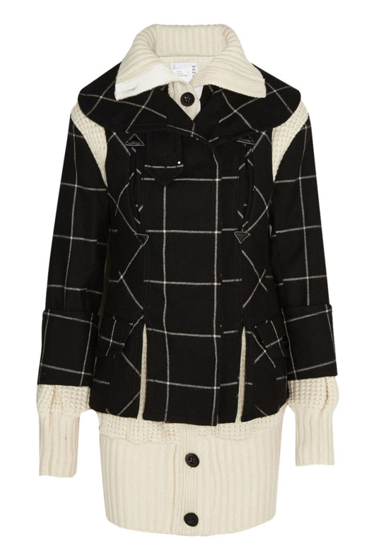 Sacai three-piece wool coat