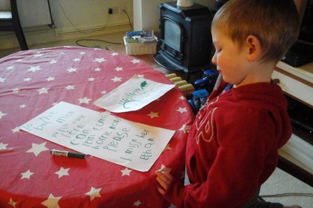 Boy, 4, writes heartbreaking letter to the 'bad men' who stole his beloved puppy