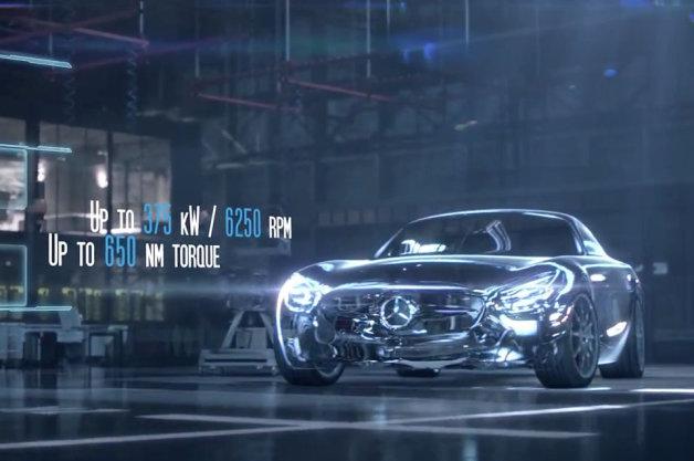 【ビデオ】「メルセデスAMG GT」の4.0リッターV8ツインターボエンジンの詳細が公開