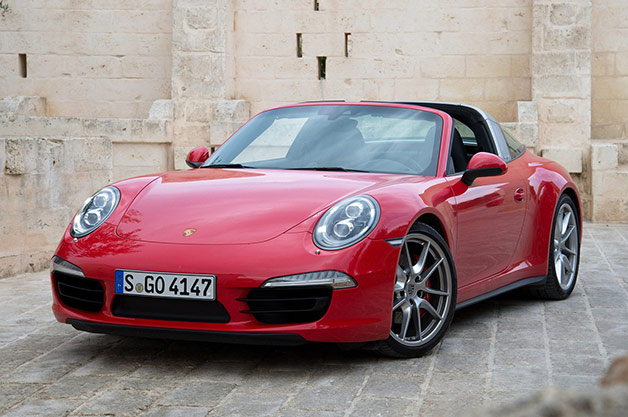 2014 Porsche 911 Carrera Targa 4 - red