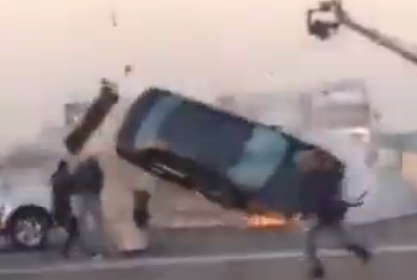 Car stunt gone wrong