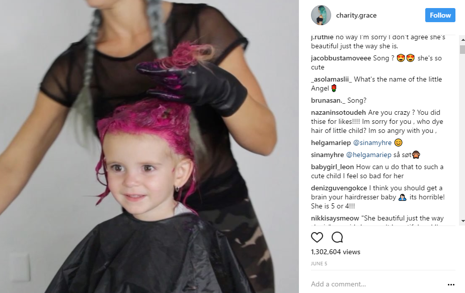 Social Media Star Charity Grace Dyes Her Daughters Hair Pink