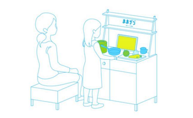 au未来研究所が、タブレットとセンサーを活用したおままごとキット『ままデジ』を開発