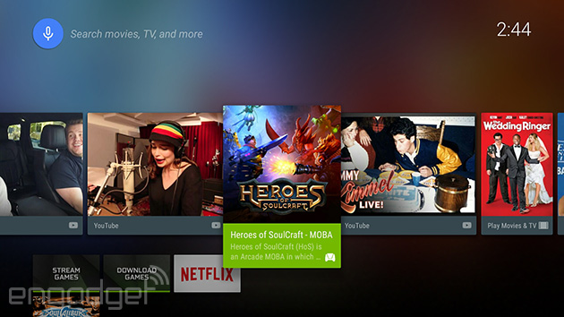 Android TV will display video apps as regular channels