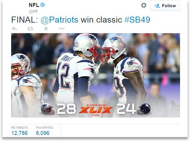 Super Bowl hits new tweet record, but Twitter still prefers soccer