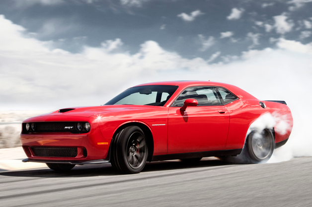 2015 Dodge Challenger SRT Hellcat burning rubber