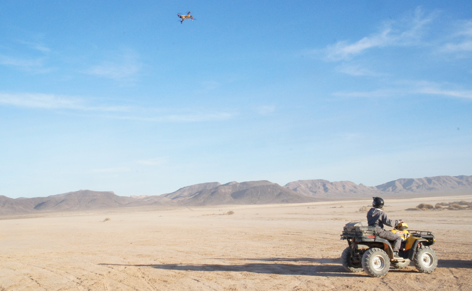 AirDog's action sports drone followed me through the Nevada desert