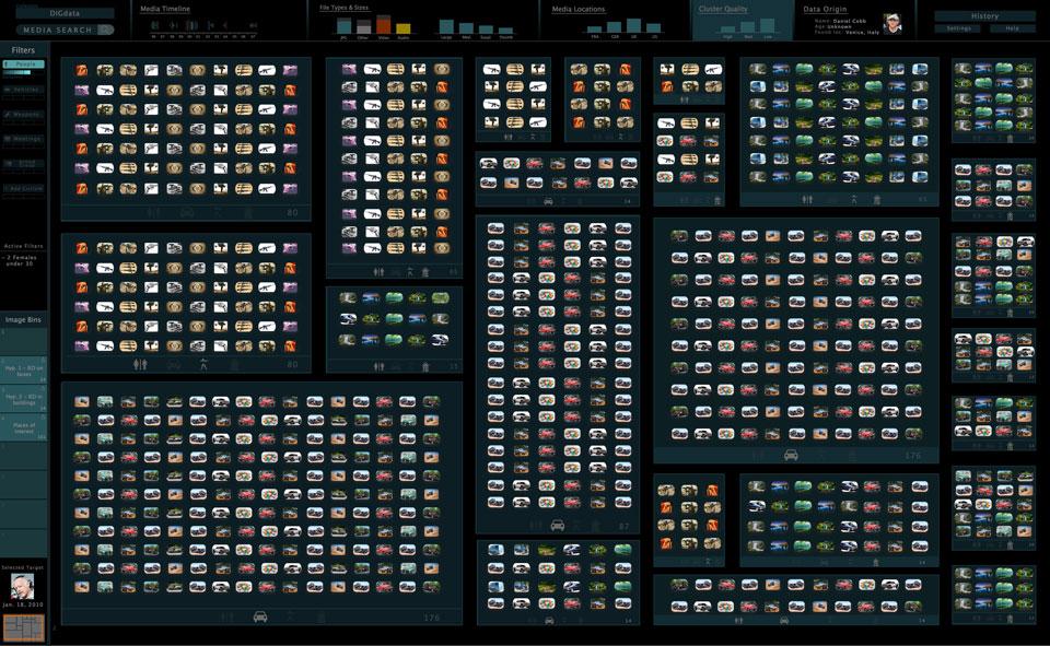 DARPA's Visual Media Reasoning interface in action
