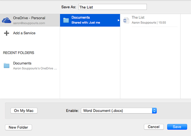 Microsoft Office for Mac 2016 preview